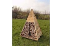 Wooden Childrens Teepee Playhouse