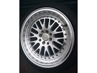 "Ultralite UL10 Deep Dish alloys and tyres - 16"" 8J 4x100/114.3 New tyres mx5, clio, ford,polo"
