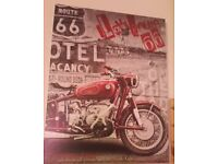 Route 66 Motorbike Canvas