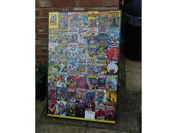 Marvel comics 70 yrs of comic covers poster print