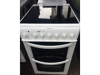 HOTPOINT ELECTRIC COOKER 50cm WIDE CERAMIC TOP DOUBLE OVEN WITH GRILL FREE DELIVERY AND WARRANTY