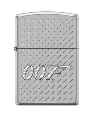 Zippo 0144 James Bond 007 Gun Logo Satin Chrome Lighter Gun Satin Lighter