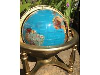 Globe with Semi-Precious Stones Defining The Countries.