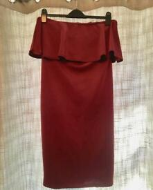 Red boohoo dress