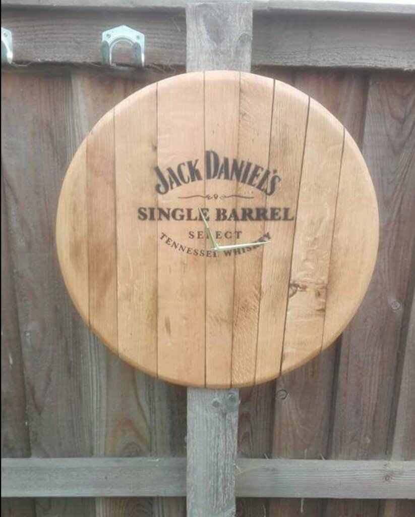 Oak whisky Barrel clocks