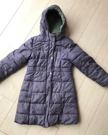 STUNNING VERBAUDET GIRLS REVERSIBLE COAT SIZE 8 YEARS