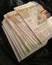 Relax with art colouring books
