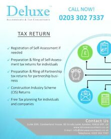 Personal Tax Return, Company Accounts, Bookkeeping, VAT Returns,CIS Rebates,Professional Accountants
