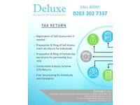 Personal Tax Return, Company Accounts, Bookkeeping, VAT Returns,CIS Rebates,Professional Accountants