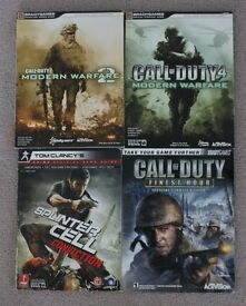 Lot of 4 Official Strategy Guides - Call of duty & Splinter Cell
