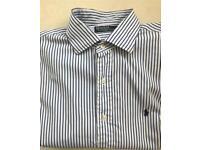 Ralph Lauren Smart striped shirt Large white/blue