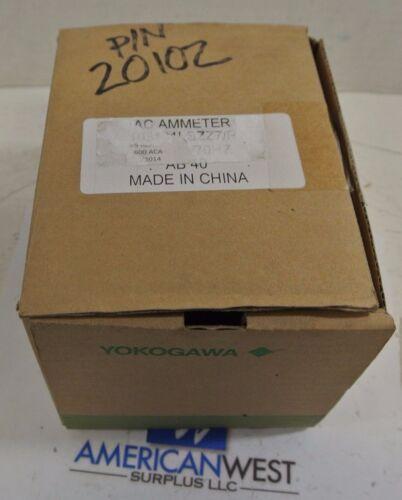 New YOKOGAWA AC AMMETER 103131LSZZ7   0 to 600 amps