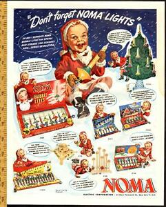 1948 full-page (10 ¼ x 13 ¼ ) ad for Noma Christmas Lights