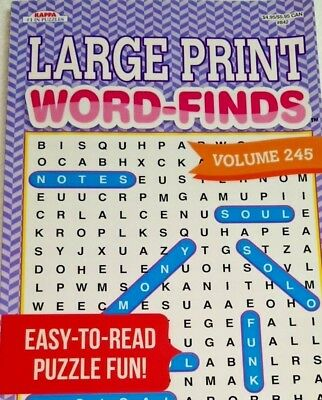 LARGE PRINT FIND A WORD WORD HUNT SEARCH A WORD PUZZLE BOOK