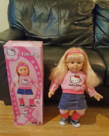 """24"""" (Unused) Inch Rosie doll in Hello Kitty clothes"""
