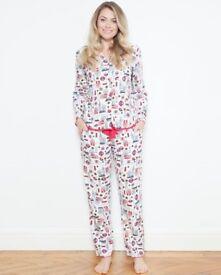 BRAND NEW - Posh London Print Pyjamas - worth £48