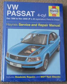 New sealed VW Passat, Haynes 3917 manual, Model years 96-00,petrol and diesel (Bath Ba2)