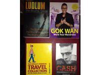 Gok Wan Work Your Wardrobe, Johnny Cash Autobiography, Where's Wally Collection, The Bourne Trilogy