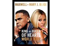 Mary J Blige & Maxwell - O2 Arena - Friday October 28th 2016 - 2 Tickets - Amazing Floor Seats- £290