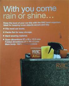 Rac boot organiser storage easy storage