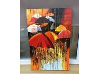 Beautiful acrylic painting on wooden board