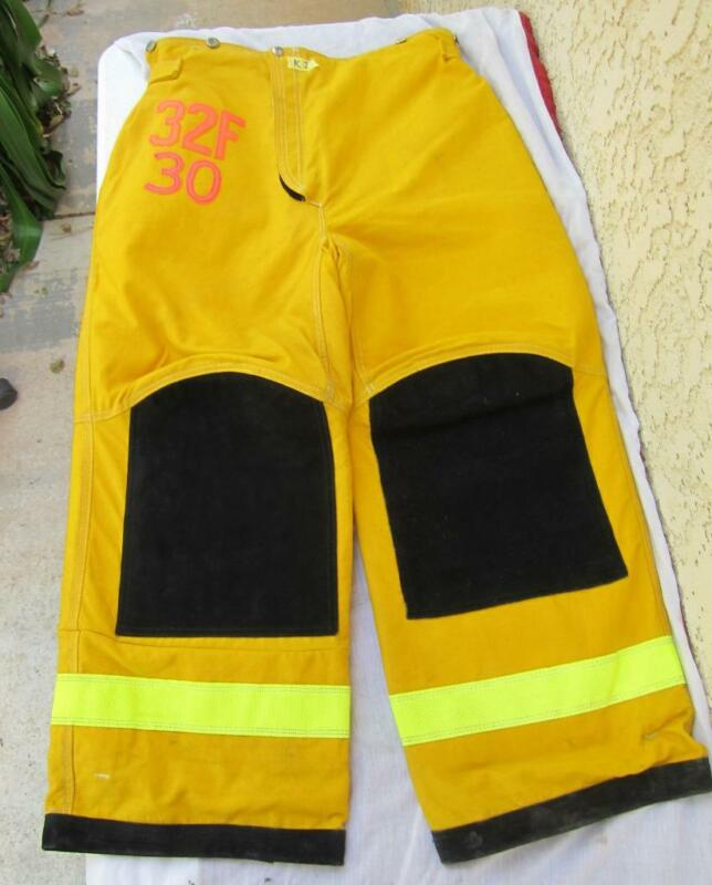 Lion Janesville Firefighter Fireman Turnout Gear Pants Size 32Fx30 - [D] (K1)
