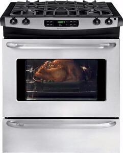 Cuisiniere FRIGIDAIRE au gaz de 30 po autonettoyant , Stainless  (Modèle: FFGS3025PS ) (SKU: 1352)