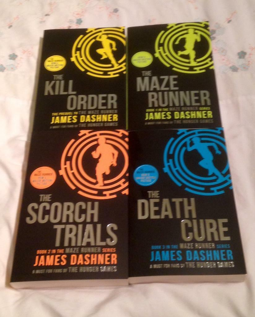 The Maze Runner Series Collection 4 Books Set by James Dashner. Unread Condition