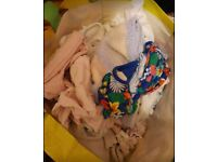 Mixed bag of baby girl clothes 0-12 months
