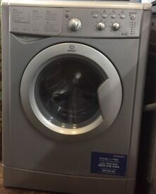 22 Indesit IWDC6125 6+5kg 1200Spin Silver Sensor drying Washer/Dryer 1 YEAR GUARANTEE FREE DEL N FIT