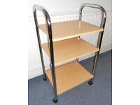 Chrome Trolley - Printer Table - Audio/ DVD Stand - Kitchen Storage