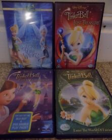 Set of 4 TinkerBell dvds