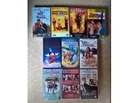 10 Classic VHS Tapes including Disney Fantasia and Jungle Book, Great Escape, Beaches, Gosford Park.