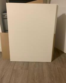 Wardrobe sliding panel doors without fixings.