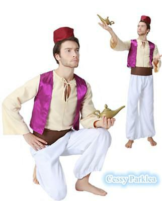 Mens Teenage Aladdin Arabian Prince Jasmine Genie Anime Shiek Arab Costume - Princes Jasmine Costume