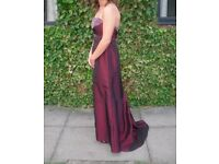 Prom Dress Ball Gown Size 6 Red Maroon