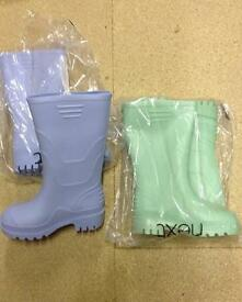 New Next Girls Wellies size 9