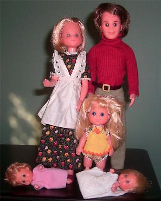 Vintage SUNSHINE FAMILY DOLLS - Steve Stephie Sweets Big Sister Baby Sweets 1973 on Rummage