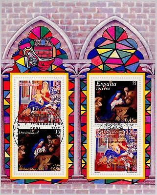 Rfa 2001: Weihnachten-Block Núm 56 !Berliner Y Español Sello ! 1A !...
