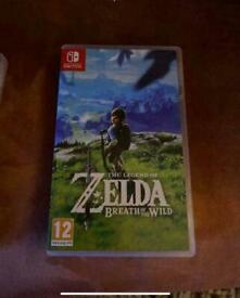 Breath of the wild Nintendo switch game