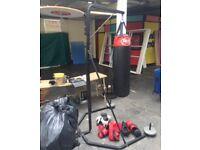 Boxing bag frame