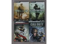 Lot of 4 official guides - Call of duty & Splinter Cell