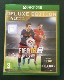 Fifa 16 x box one deluxe edtion