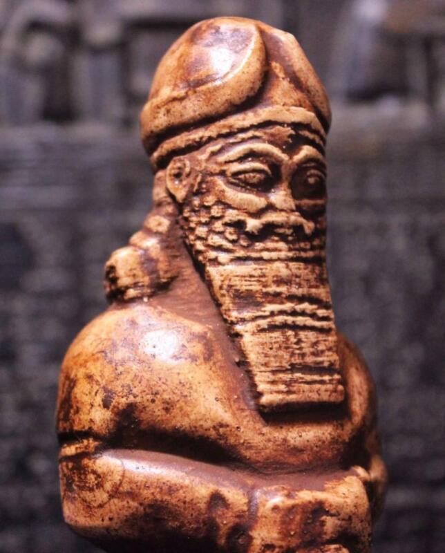 PRIEST OF NABU Assyrian Temple Statue 800 BC Reign of King Assurnasirpal II
