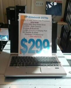 HP Elitebook 2570p - 2.6Ghz i5 Intel - 8Gb - 240 SSD - 1 Year Warranty - FREE Shipping Canada wide