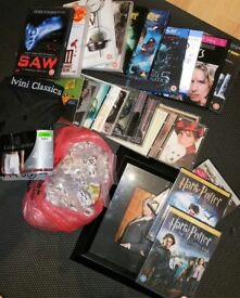 Mixed Bundle of CDs, DVDs, Beads, Clothing etc