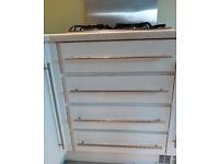 Kitchen units and shelves - white gloss