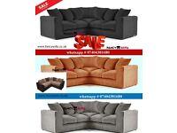 QJ110 BUMPER SALE on Dylan Jumbo Cord Large 2 Corner Sofa Set