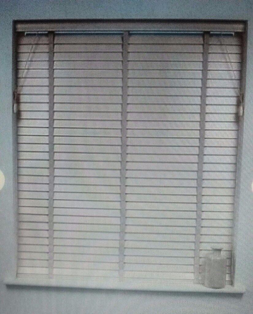 Dunelm White Wooden Slated Window Blind