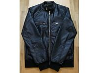 River Island Leather Look Jacket - Medium - Black